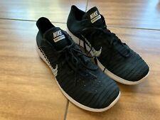 Nike Free Run Flyknit Black Woven Running Shoes Natural Flexible Footwear Men 12