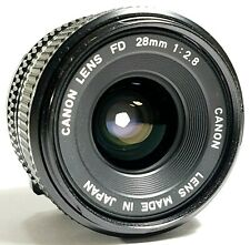 Canon FD 28mm F2.8 Wide Angle Prime Camera Lens UK Fast Post