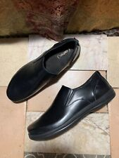Aetrex VE200M Sz 11.5 US Med Black Leather Slip On Comfort Shoe Professional Men