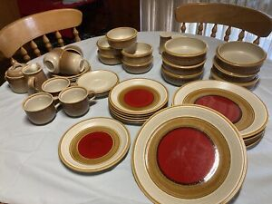 "Mikasa ""Nature's Song"" C1059 dinner set. Rustic Red"