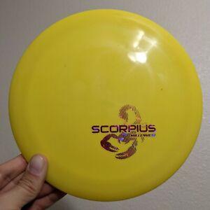 First Run 1.1 Echostar SCORPIUS Millennium Disc Golf Echo Star MINI STAMP Yellow