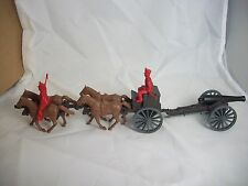 Classic Toy Soldiers ALAMO/NAPOLEONIC 4 horse Limber and 12lb. cannon (54MM)