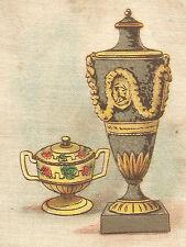 Vintage tobacco cigarette silk card -United Tobacco Co- Wedgwood Vase #33