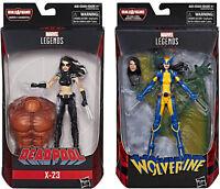 Marvel Legends ~ X-23 (X-FORCE) & X-23 (WOLVERINE) ACTION FIGURE SET ~ Deadpool