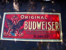 Budweiser Anheuser Busch vintage antique style banner poster sign