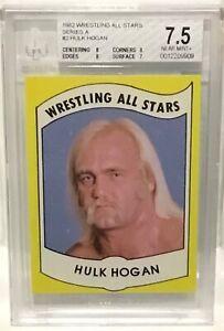 1982 Wrestling All Stars Hulk Hogan Rookie #2 BGS 7.5 Near Mint