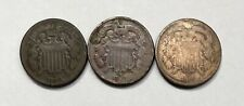 1864, 1865,& 1866 Two Cent Pieces - 3 Coin Lot