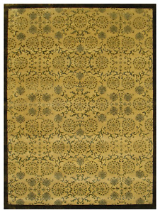9x12 One-of-a-kind Hand Knotted Area Rug Transitional Design Wool