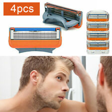 4PCS For Gillette Fusion 5 Layers Men's Razor Blade Refills Replacement Gift