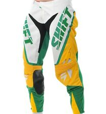 $159 Shift Racing Mens Faction Chad Reed Limited Mxon Pants Green Yellow Size 32