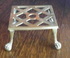 antique brass fire side   TRIVET TEA POT STAND