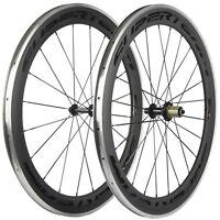 SUPERTEAM Carbon Road Wheelset Alu Braking Surface 60mm Carbon Bicycle wheels
