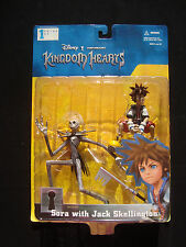 Disney Kingdom Hearts Action Figure 2-Pack Set Sora Jack Skellington SquareSoft