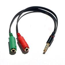 3.5mm Jack 1To2 Mic/Headphone Splitter Cable Adapter For iPhone Android Devices
