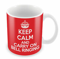 KEEP CALM and Carry On Bell Ringing Mug - Coffee Cup Gift Idea present chuch