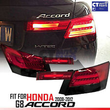 Smoked Red LED 3D Tail Lights for HONDA ACCORD 08-11