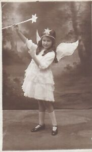 OLD PHOTO GIRL FANCY FRESS FAIRY WAND FAIRIES SOUTHAMPTON RR25