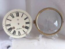 """Seth Thomas Solid Brass 6""""Hinged Bezel with Steel Dial, Convex Glass, Beautiful!"""