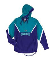 NEW Mitchell & Ness Half Zip Anorak NBA Charlotte Hornets Light Jacket
