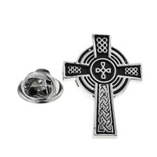 Celtic Cross Lapel Pin Badge X2AJTP866