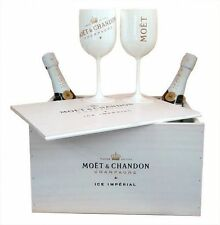 Moet Chandon Ice Imperial Champagne Glasses White Goblets 2 Pack Double Sided