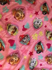 Pink Paw Patrol Dog 2-Piece Crib Fitted Sheet & Pillowcase Set Hearts Used