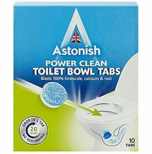 Astonish Toilet Bowl Cleaner Tablets 10 Tabs Limescale Remover Deodorises 25gm
