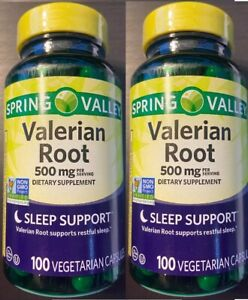 2pk Spring Valley Valerian Root Sleep Support 250mg per capsule 100ct each