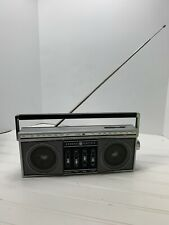 GE GENERAL ELECTRIC MINI BOOM BOX VINTAGE STEREO 7-2450A Working Movie Prop