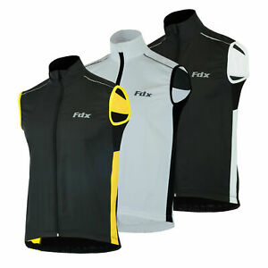 FDX Mens cycling Gilet Shower Windproof Foldable Cycling Jacket Breathable Gilet