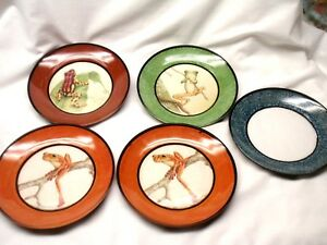 Set of 4 Decorative Frog Plates by Ocean + Plus Extra Viewing Plate