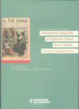 Provence et Languedoc à l opéra en France au XIXe cultures et representations