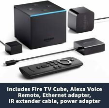 Amazon Fire TV Cube 4K Ultra HD Alexa Built In with Voice Remote