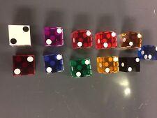 11 colors of casino dice