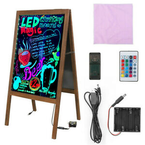 LED Light Advertising Message Writing Board A Board Pavement Sign Display Stand