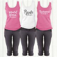 2016 Bridal Party Personalised PJ's/Loungewear- Hen Maid of honour Birdemsaid