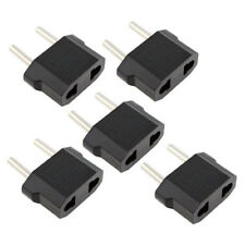 (5PC) Set Travel Foreign Adapter Round Plug from 110V to 220V US to Europe Asia