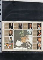 Ajman State World Leaders Used Stamps Sheet ref R 17918