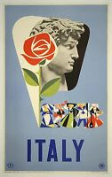 Italy Romans Vintage old Travel Poster Print art  Framed Canvas painting