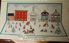 B Shackman 2 Pack Lot Old Fashioned Skating Scene Designed by Annie Lillemoe
