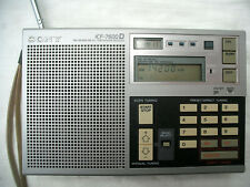 Sony ICF 7600 D HF AM FM portable receiver with manual