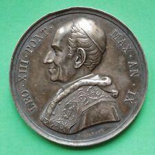 1886 Vatican Papal Pope Leo XIII Silver Medallion Basilica Lateranense SNo39864