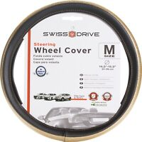"""Steering Wheel Cover GLOW Gold fits 14.5"""" - 15.5"""" (M)"""
