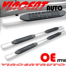 "Fit 05-20 Nissan Frontier Crew  Cab 4"" S/S Oval Side Step Running Board Nerf Bar"