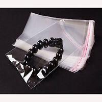 100Pcs Self Adhesive Peel&Seal Plastic Bags OPP Clear Cellophane,Card,Jewellery