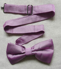 NEW TOP QUALITY MENS DICKIE BOW TIE DOUBLE BOWTIE SHIMMERY RIBBED MAUVE PURPLE