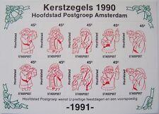 Stadspost Amsterdam 1990 - Velletje Kerst, Christmas, Weihnachten