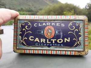 Vintage Cigarettes Tin.  CARLTON (wm clarke & son) Pocket Tin