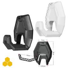 Black Headphone Headset Hanger Holder Wall PC Monitor Stand Hook Sticky New UK
