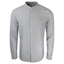 Camicie casual e maglie da uomo camicie casual grigi marca Farah